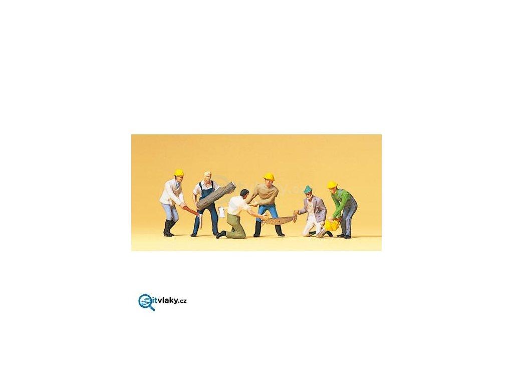 H0 - Lesní dělníci 6 ks figurek / Preiser 10042