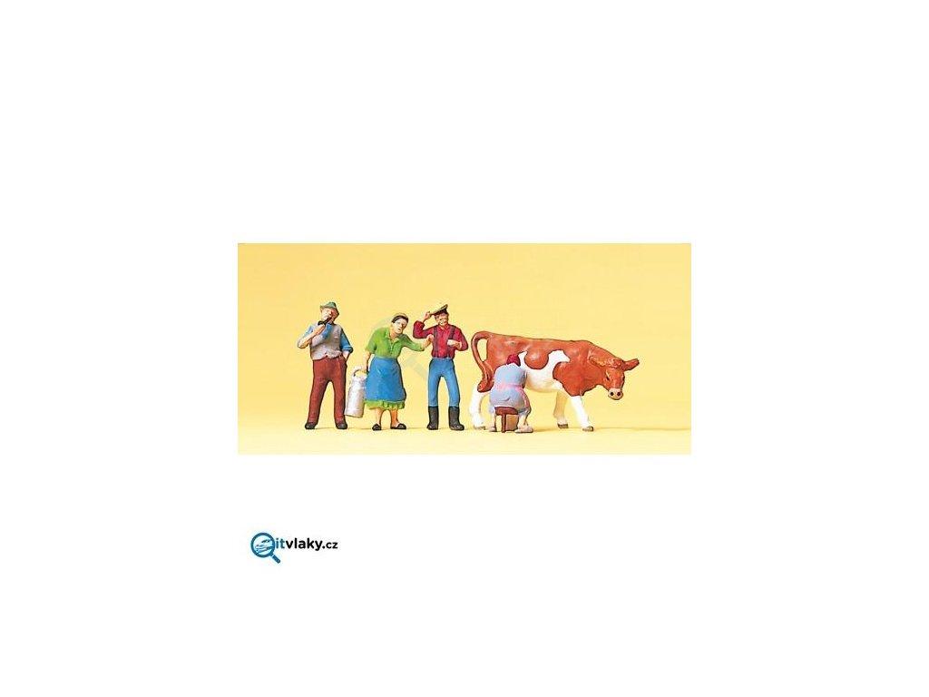 H0 -  Na farmě 5 ks figurek / Preiser 10044
