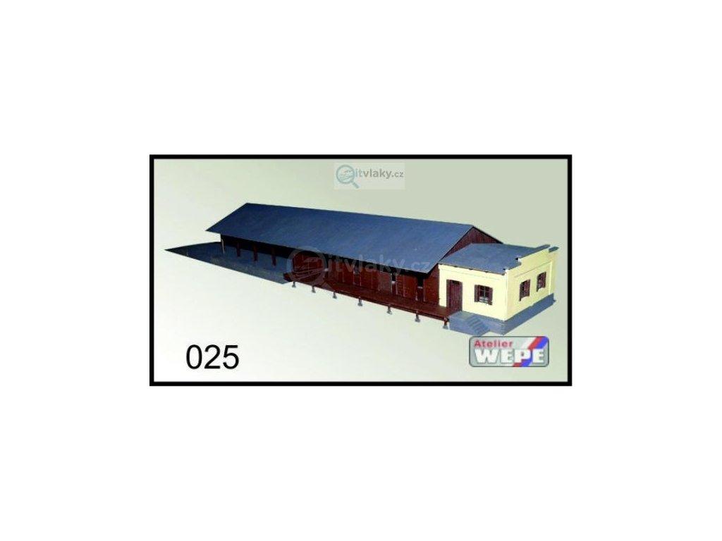 H0 - Budova nákladní pokladny Čelákovice 025 / AWEPE model 10049