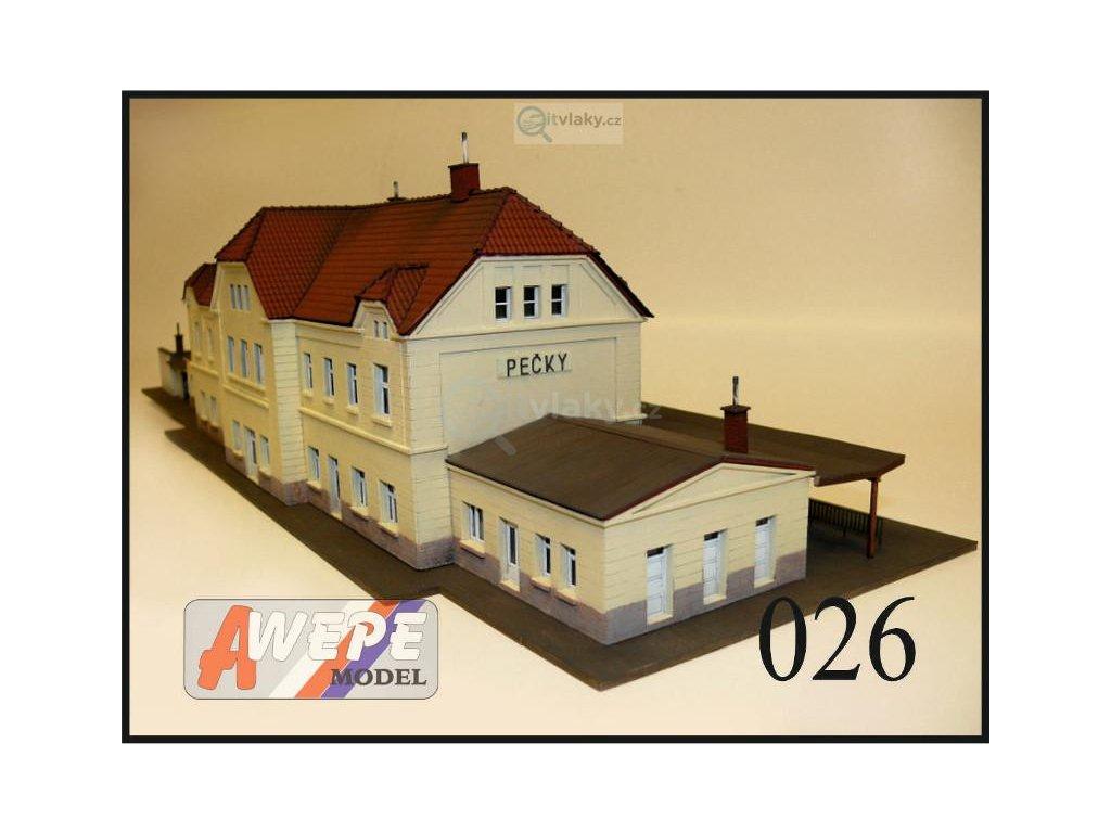 H0 - Budova nádraží Pečky 026 / AWEPE model 10051