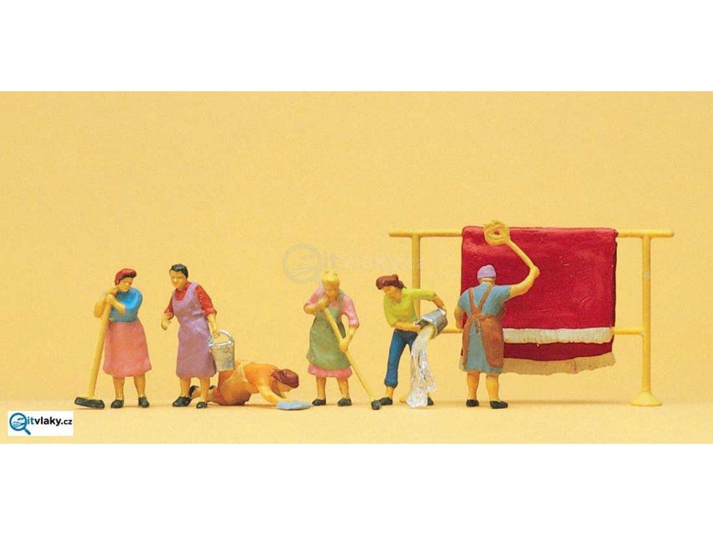 H0 - Ženy v domácnosti 6 ks figurek / Preiser 10059