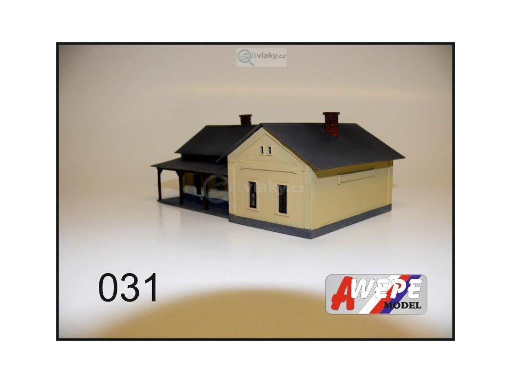 H0 - Budova malého nádraží 031 / AWEPE model 10061