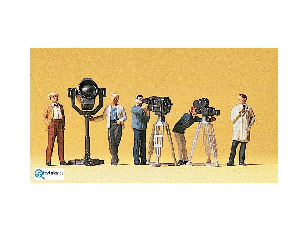 H0 - filmový štáb s kamerami / Preiser 10062