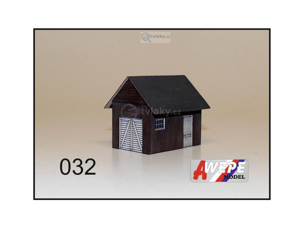 H0 - Kůlna dřevěná 032 / AWEPE model 10063