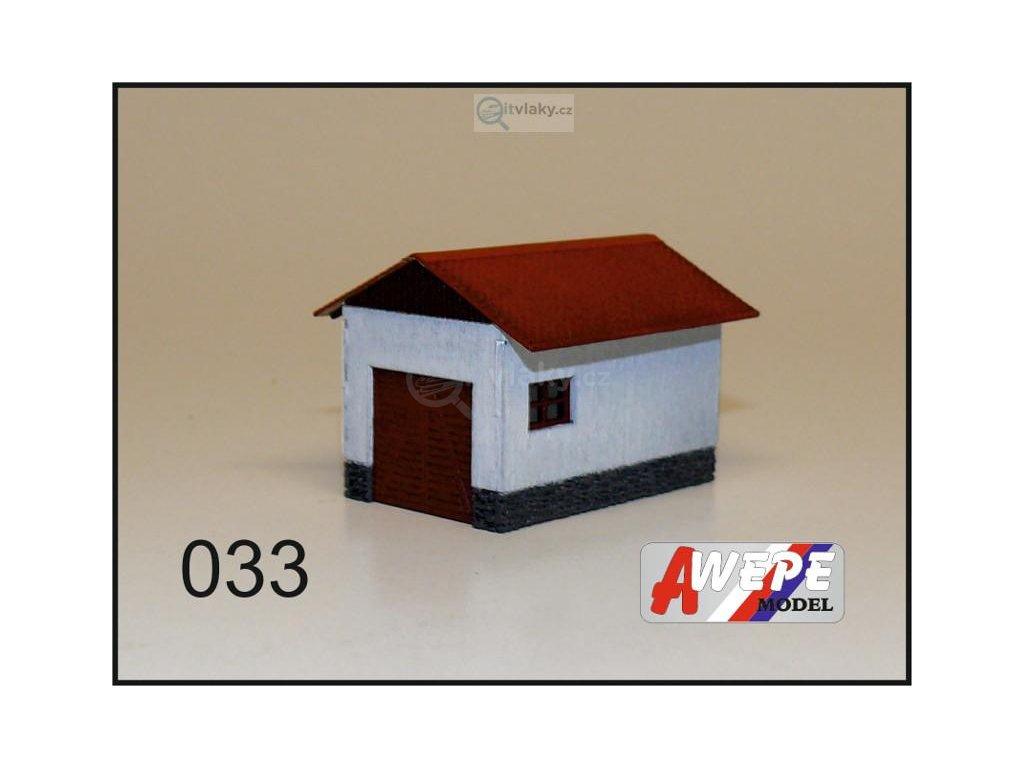 H0 - Kůlna zděná 033 / AWEPE model 10065