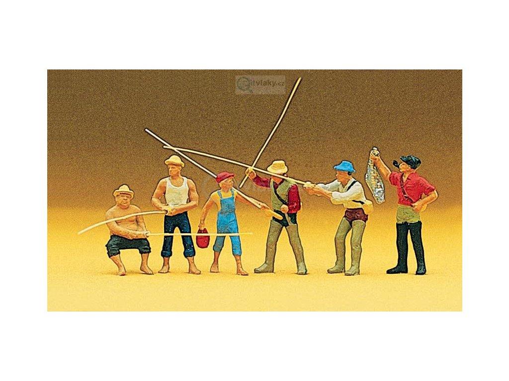 H0 - Rybáři s udicemi / Preiser 10077