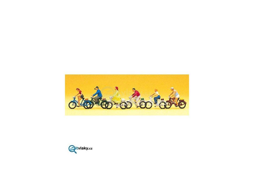 H0 - Cyklisté 6 ks figurek / Preiser 10091