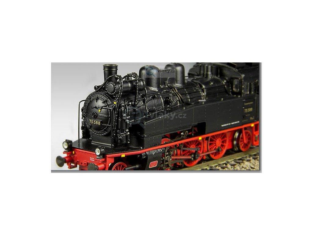 TT - parní lokomotiva BR 75.588 DRG nové číslo Chemnitz / Dresden / BECKMANN 1010603