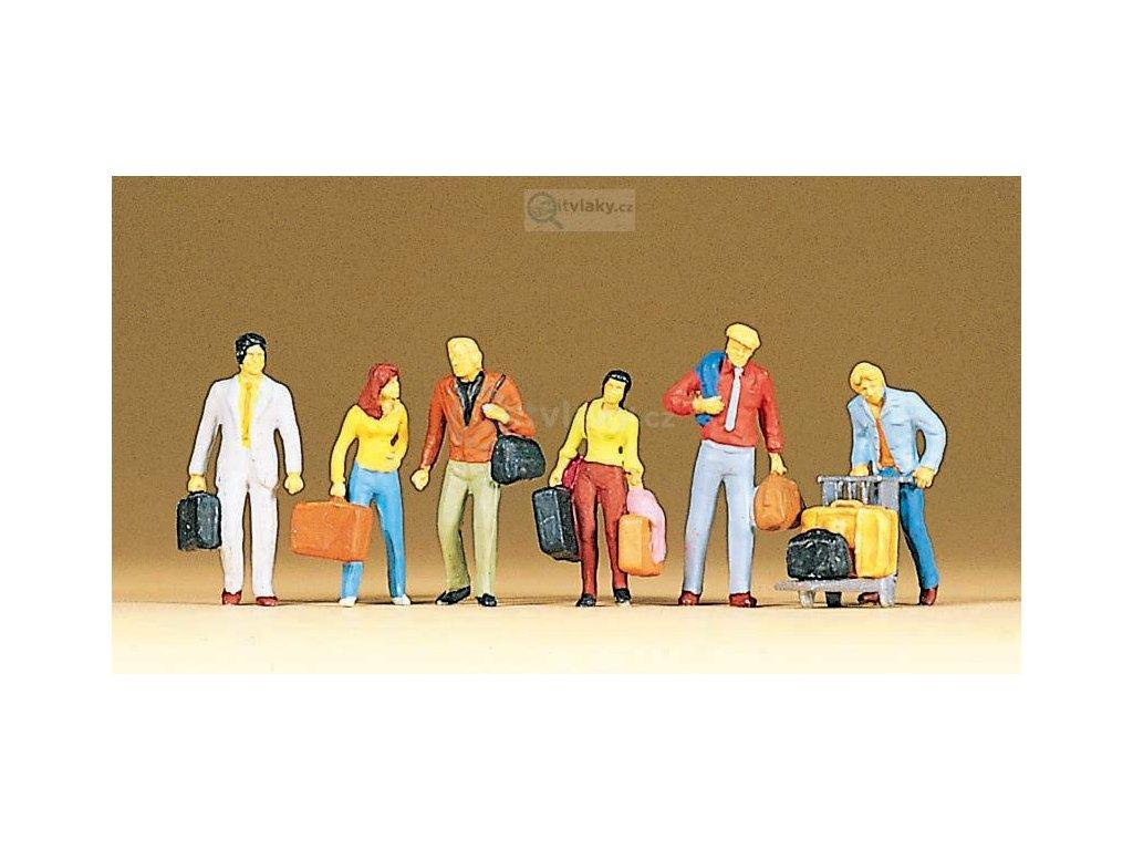 H0 - Cestující se zavazadly / Preiser 10115