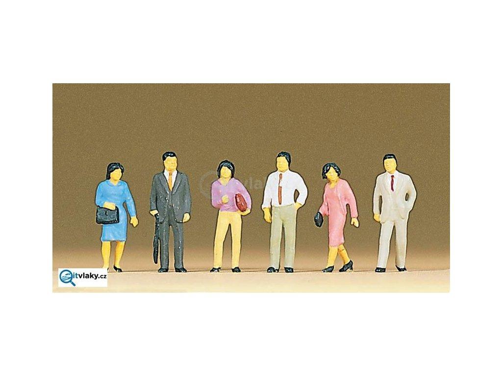 H0 - Japonci, 6 ks figurek / Preiser 10119