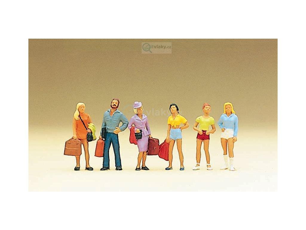 H0 - Cestující, teenageři, 6 ks figurek / Preiser 10123