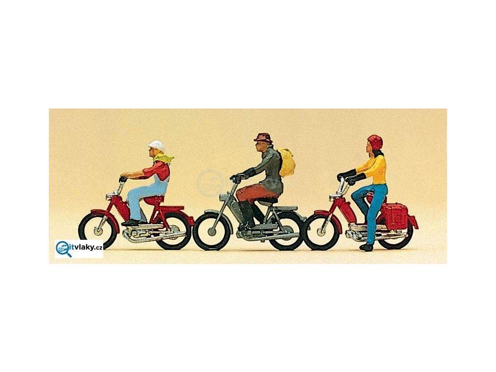 H0 - Mopedisté 3 ks figurek / Preiser 10125