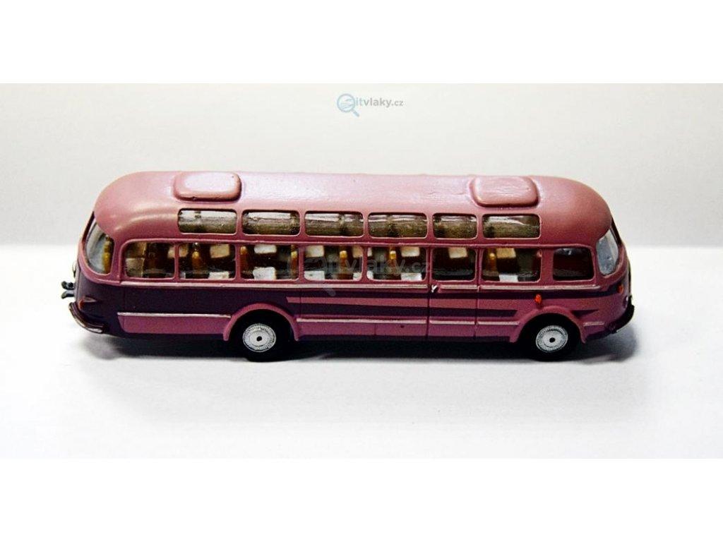 H0 - autobus Škoda 706 RTO růžová/fialová / Došlý 101302