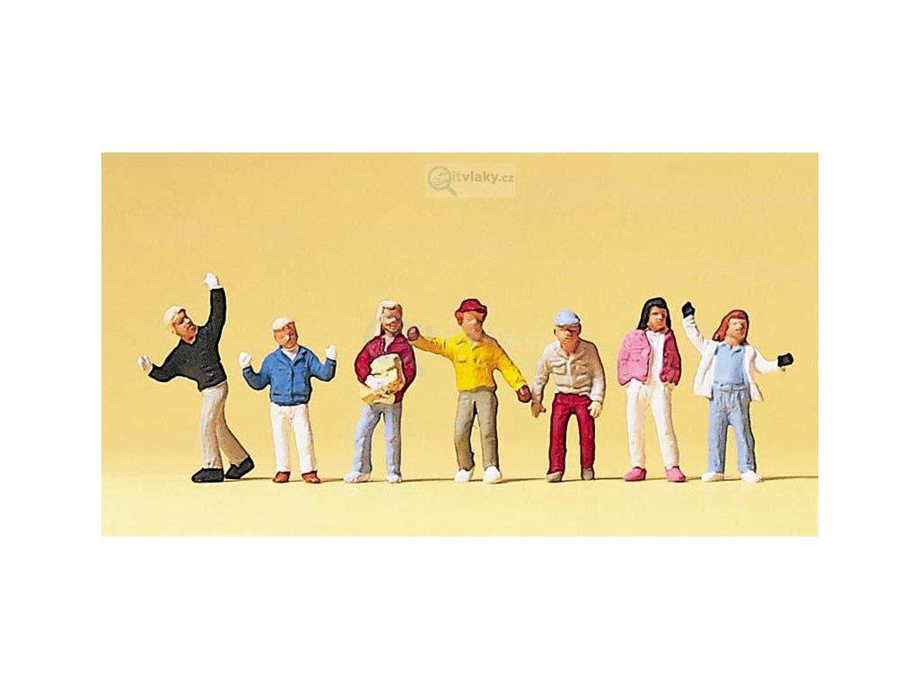 H0 - Děti, 7 figurek / Preiser 10183