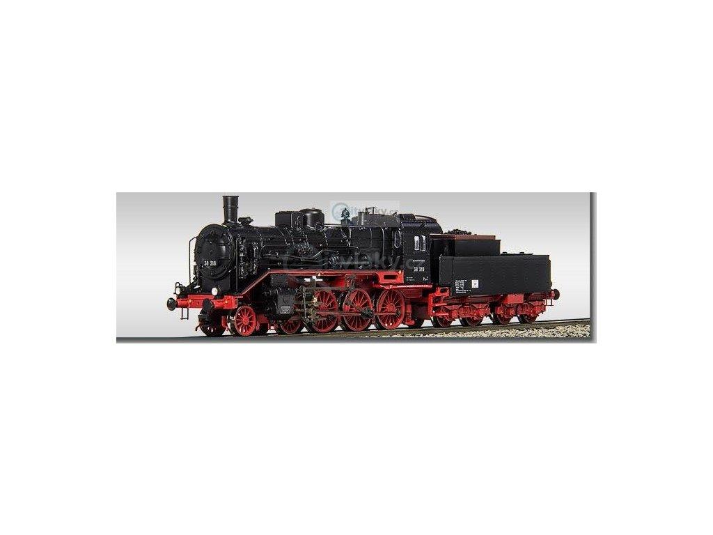 TT - parní lokomotiva BR 38 318 DR tendr s dřevěnou nádstavbou/ BECKMANN 1018307