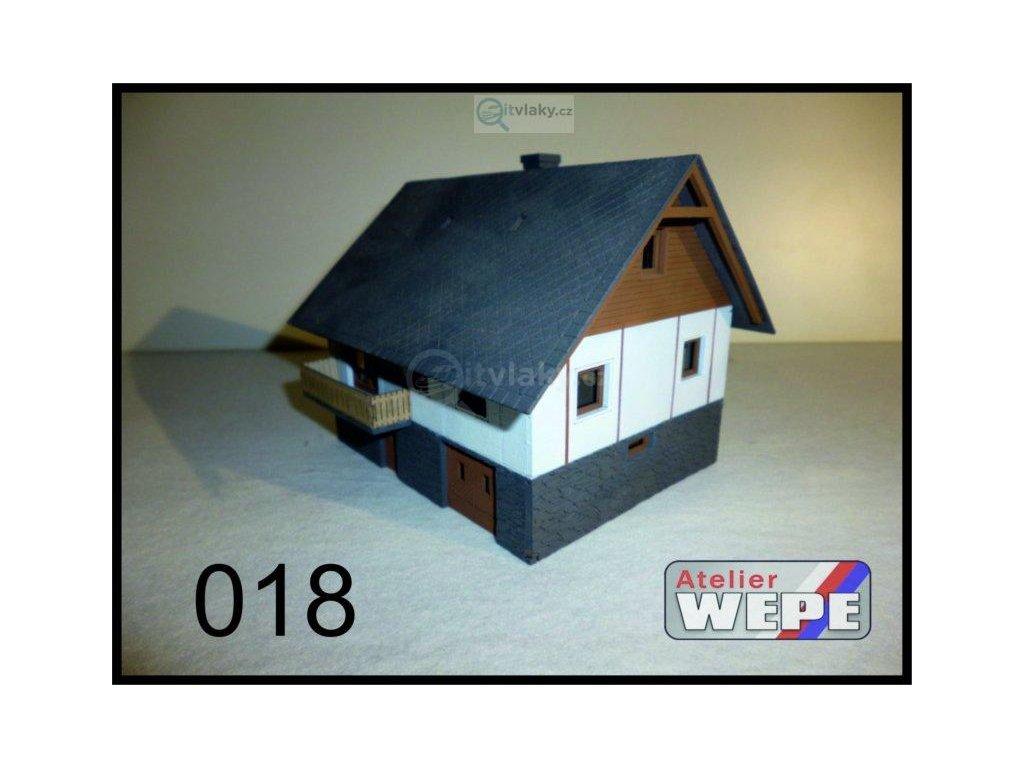 N - Rodinný dům ,,Okál roubenka'' 018 / AWEPE model 10218