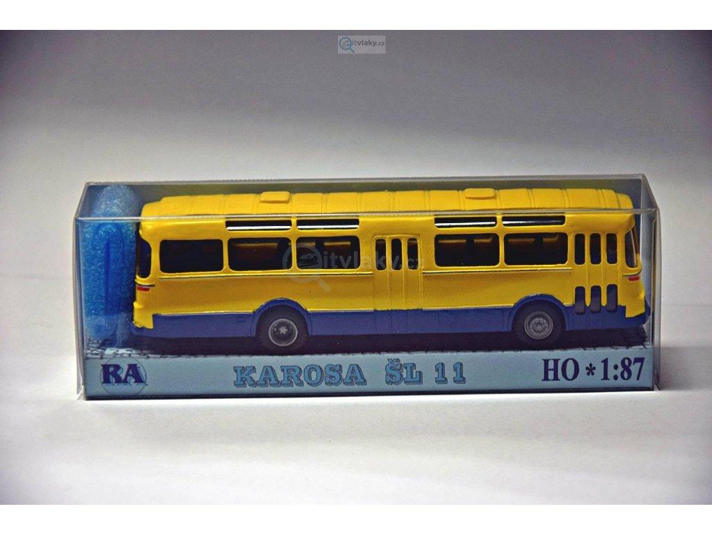 H0 - autobus Karosa ŠL 11 žlutý/modrý / RA Došlý 102202