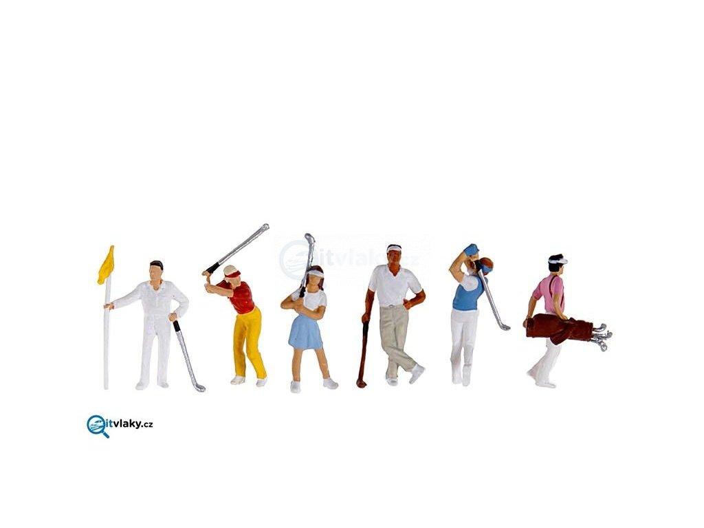 H0 -  Golfisté, 6 figurek / Preiser 10231