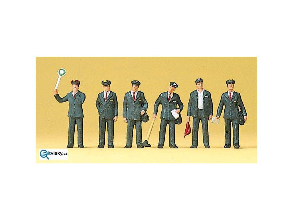 H0 - Italský železniční personál, 6 figurek / Preiser 10238