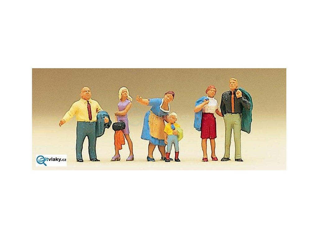 H0 - Rodina Krause, 6 figurek / Preiser 10279