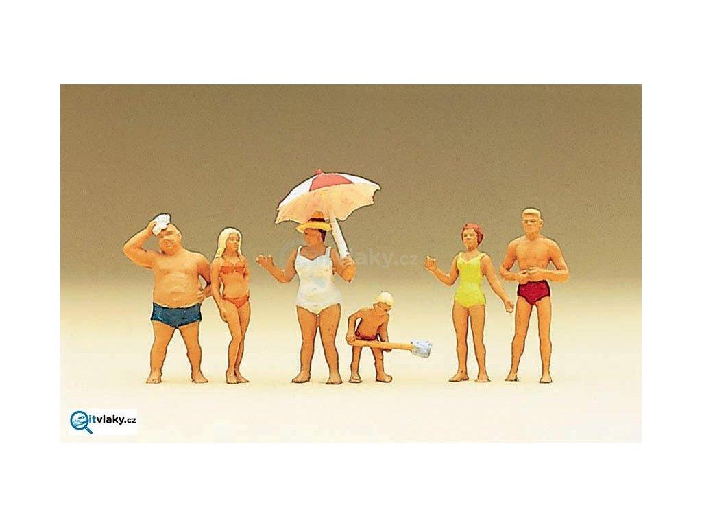 H0 - Rodina na pláži / Preiser 10283