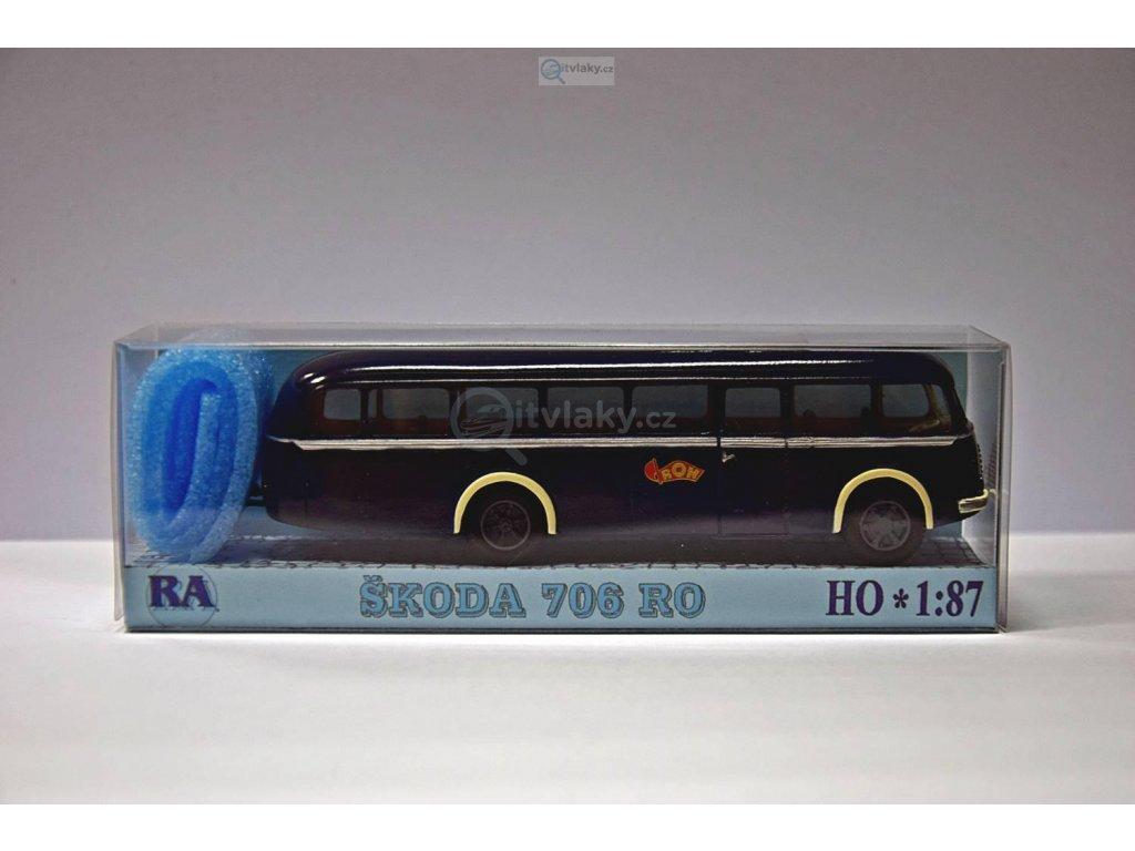 """H0 - Škoda 706 RO tmavě modrý """"ROH"""" / RA Došlý 103003"""
