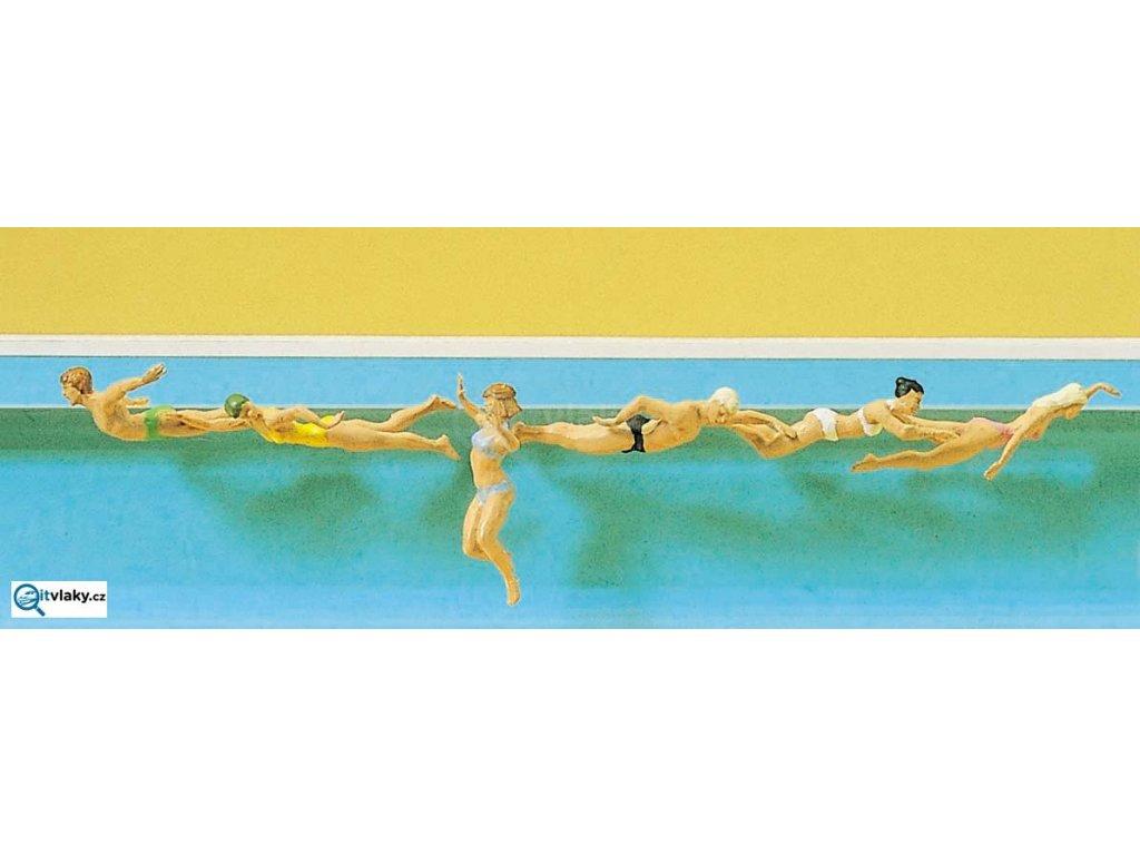 H0 - Plavci, 6 figurek / Preiser 10306