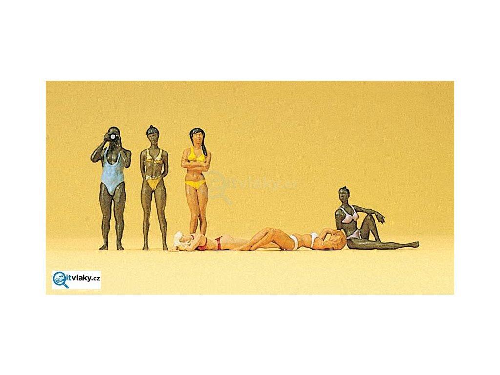 H0 - Na pláži, 6 figurek / Preiser 10309