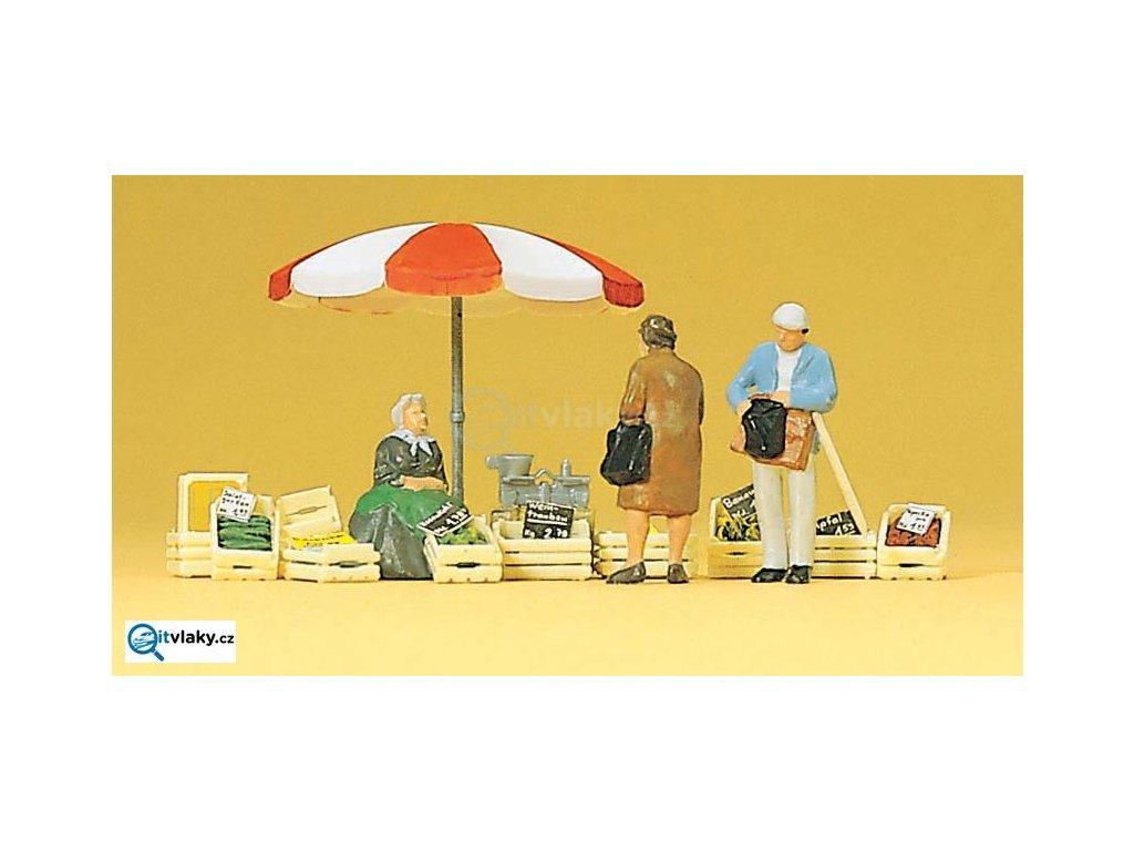H0 - nakupující na tržišti / Preiser 10337
