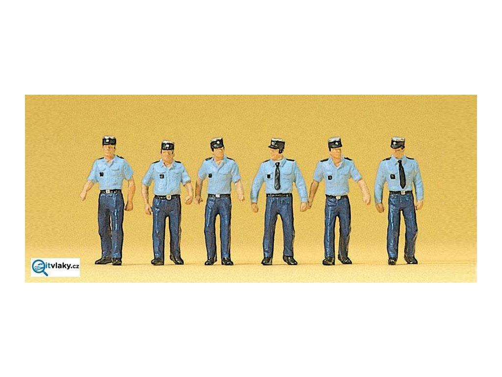 H0 -  Policisté v letní uniformě, Francie, 6 figurek / Preiser 10341