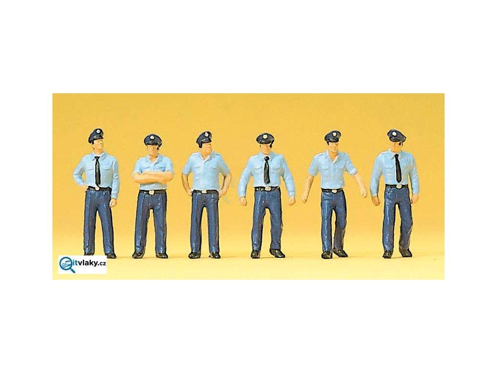 H0 - Hasiči v letní uniformě, Německo, 6 figurek / Preiser 10342