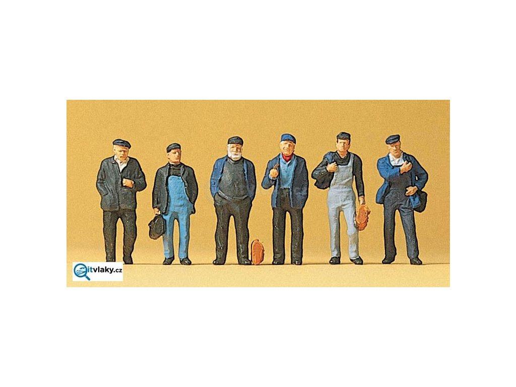 H0 - Dělníci v průmyslu, 6 figurek / Preiser 10350