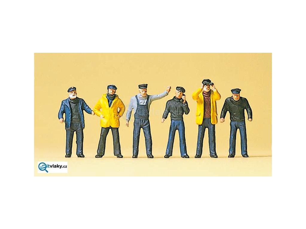 H0 - Lodní posádka, 6 figurek / Preiser 10353