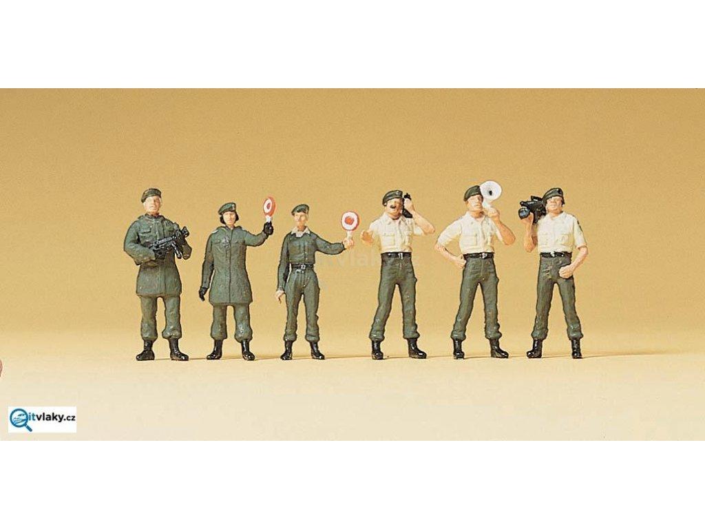 H0 - Bezpečnostní kontrola, 6 figurek / Preiser 10394