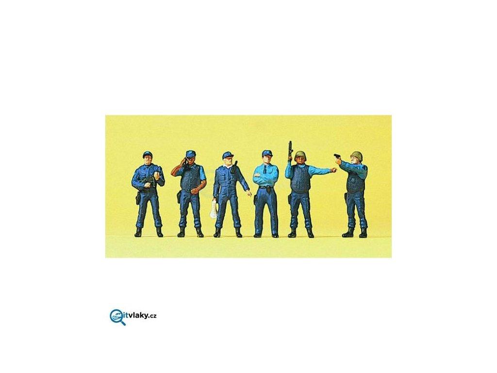 H0 - Policie USA, 6 figurek / Preiser 10396