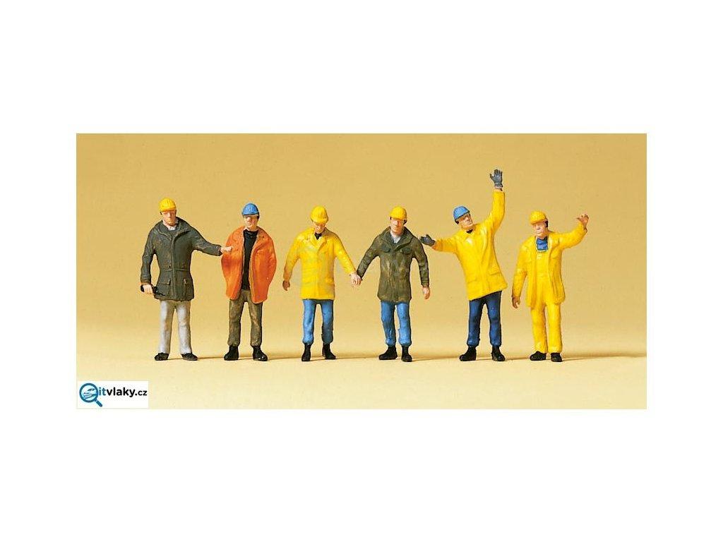 H0 - Pracovníci s ochranným oděvem, 6 figurek / Preiser 10423