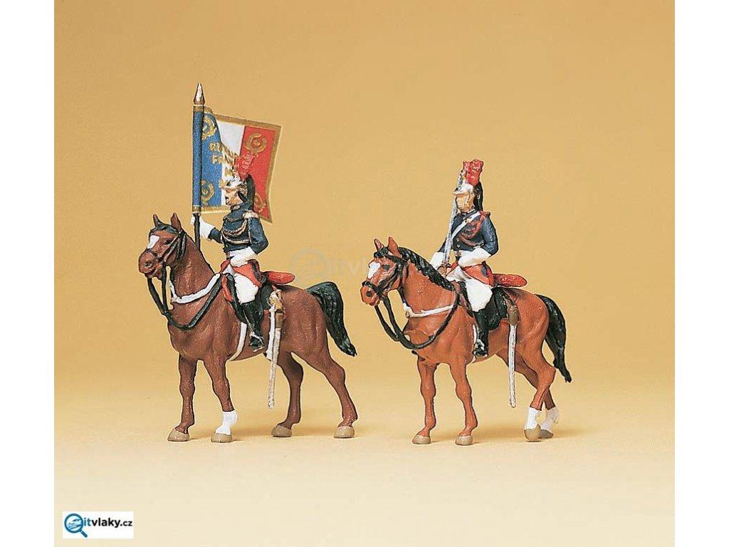 H0 - Republikánské gardy na koních II, 2 figurky / Preiser 10460