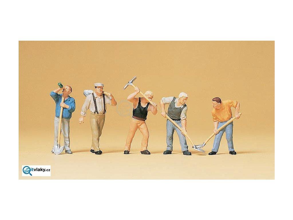 H0 - Zaměstnanci, 5 figurek / Preiser 10461
