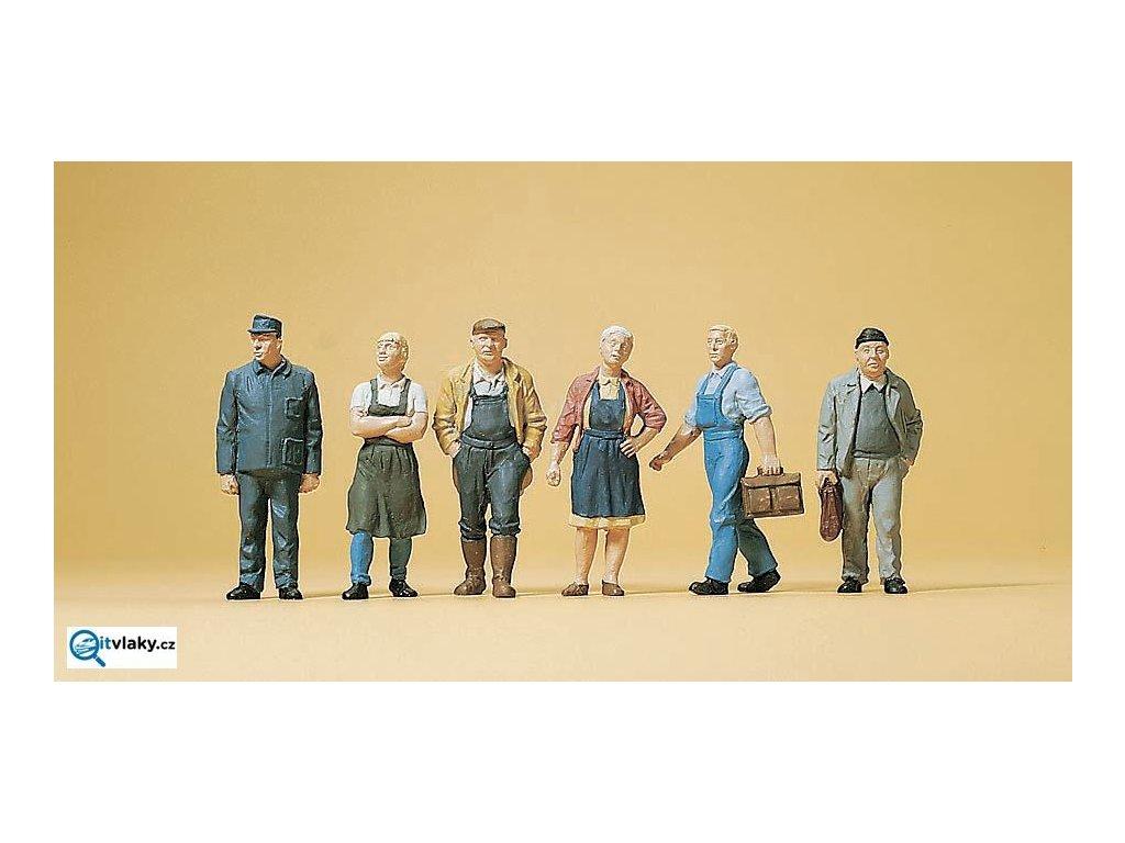 H0 - Vesnické postavy, 6 figurek / Preiser 10472