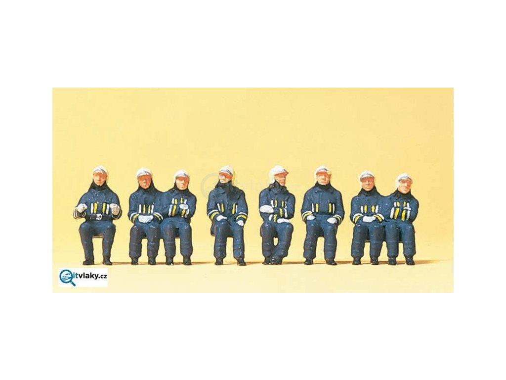 H0 - Moderní hasiči, 8 figurek / Preiser 10483