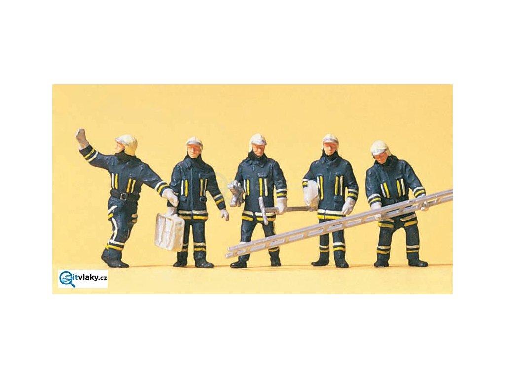 H0 - Moderní hasiči, 5 figurek / Preiser 10484