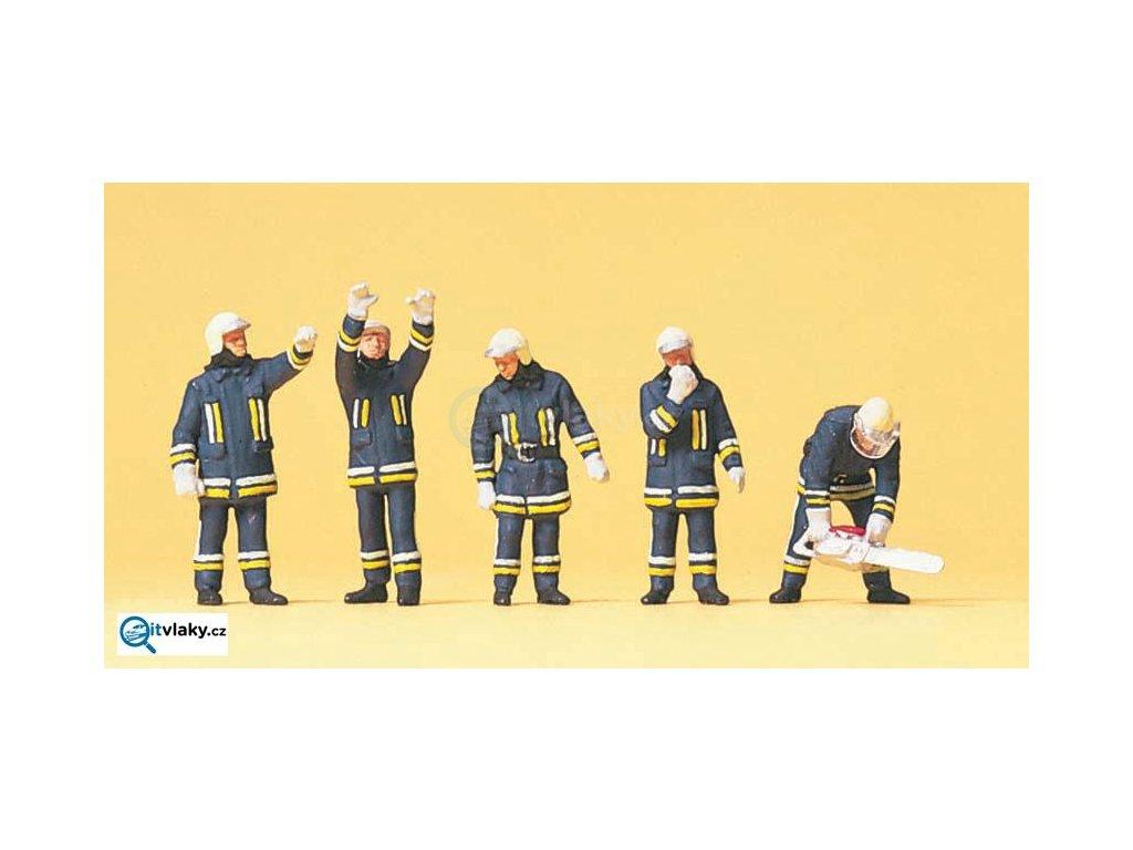 H0 - Moderní hasiči, 5 figurek / Preiser 10486
