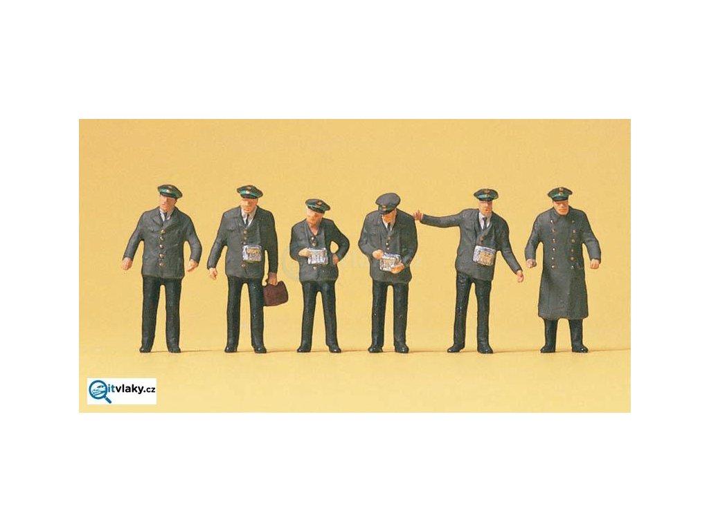 H0 - Tramvaj. zaměstnanci, 6 figurek / Preiser 10490