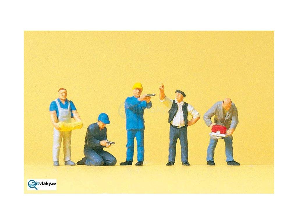 H0 - Řemeslníci, 5 figurek / Preiser 10498