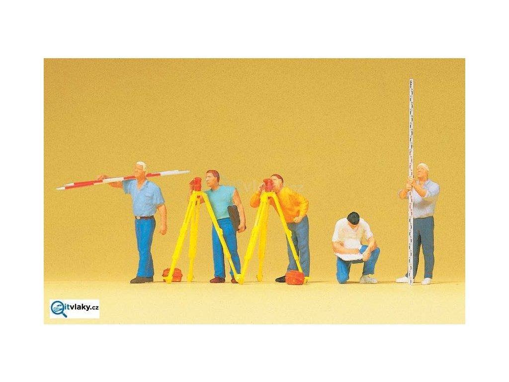 H0 - Měřiči, 5 figurek / Preiser 10512