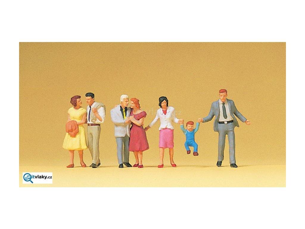 H0 - Zamilované dvojice, 7 figurek / Preiser 10514