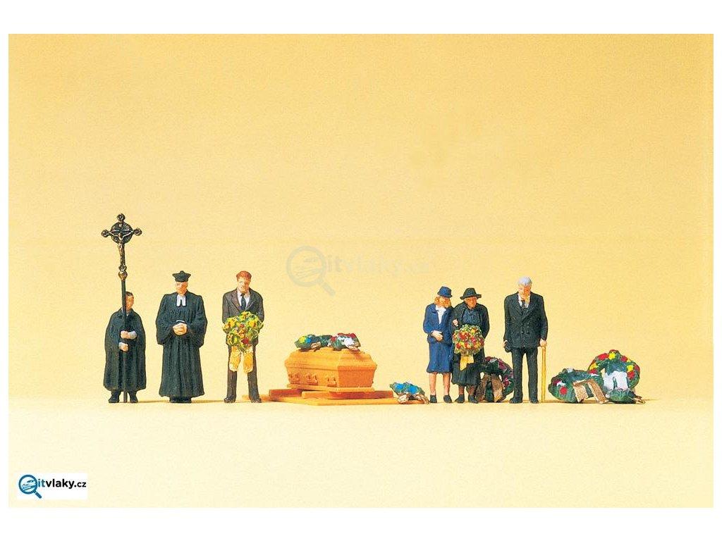 H0 - Pohřeb, 6 figurek / Preiser 10519