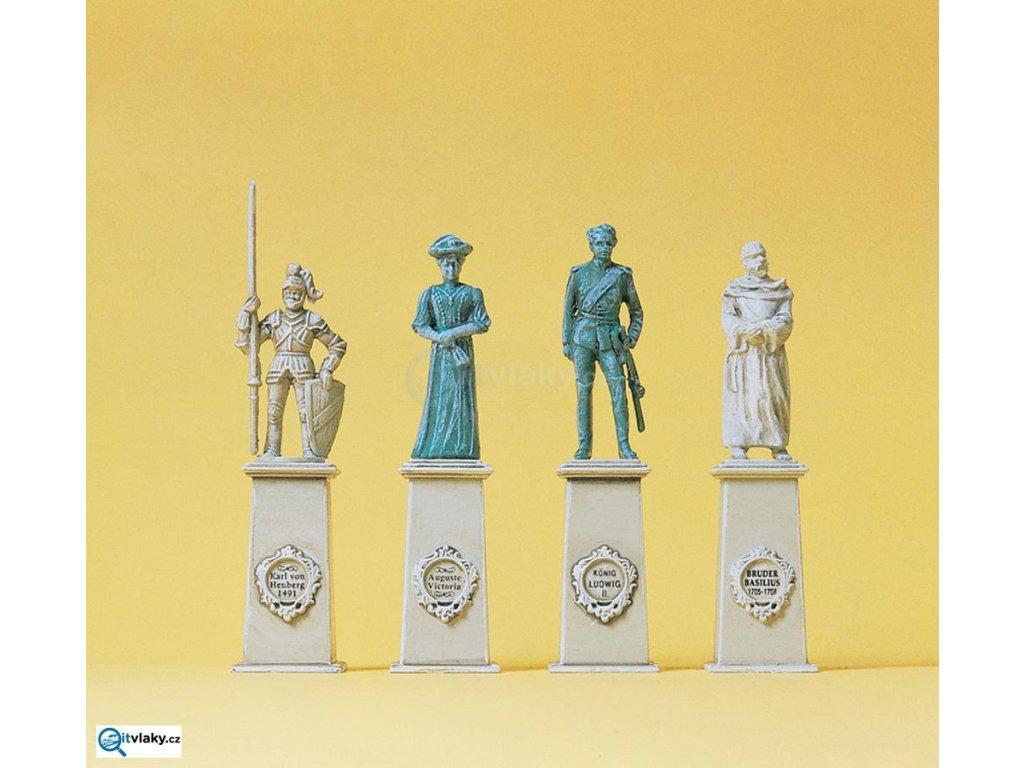 H0 - Památkové sochy, 4 figurky / Preiser 10525