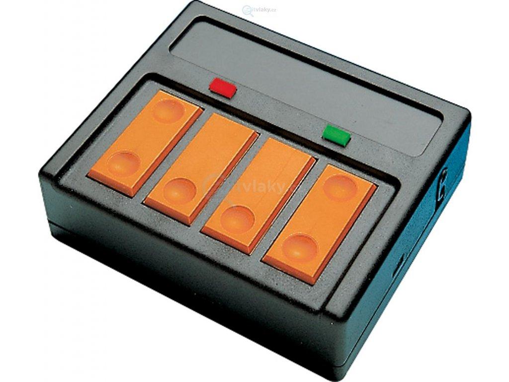 ovládací pult pro 2 ks trojcestných a DKW výhybek se zpětným hláš. / Roco 10526