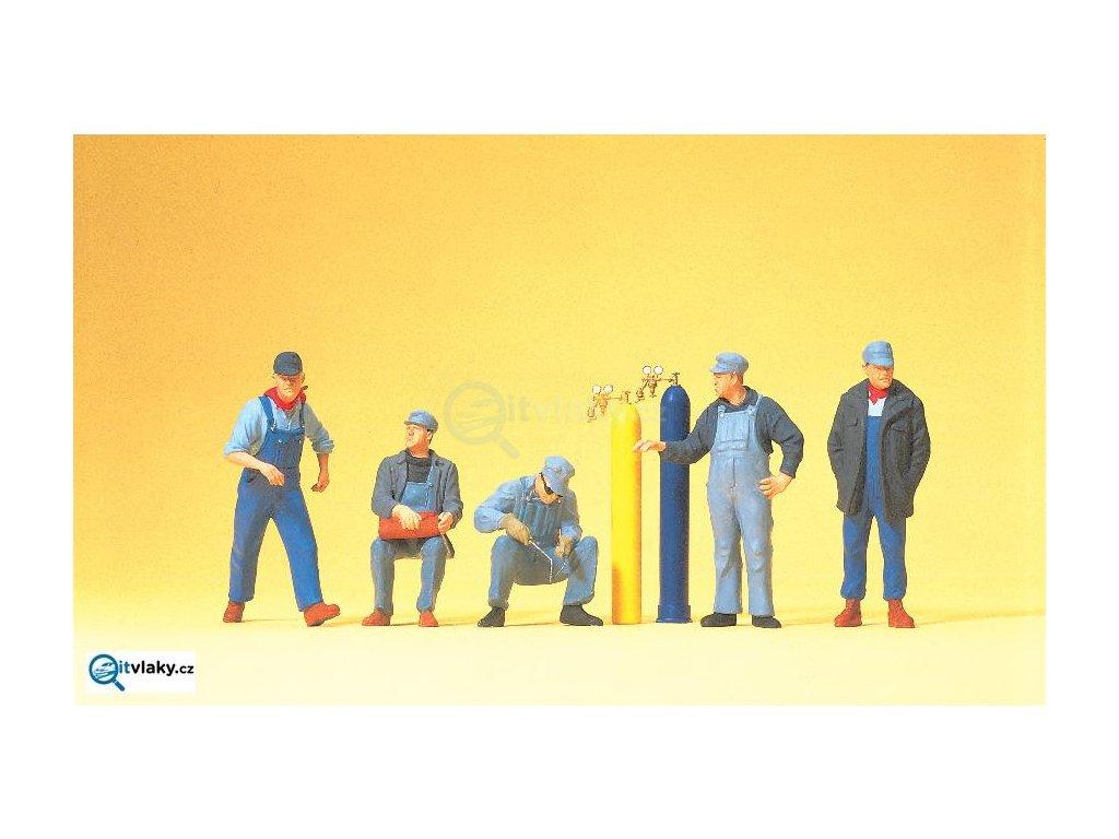 H0 - USA železniční personál, 5 figurek / Preiser 10535